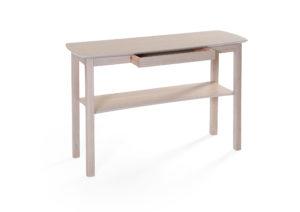 Fint svensktillverkat sidobord från Bordbirger. Sidobordet Marathon finns i vitpigmenterad ek, svartbetsad ek, vitlack, ek och björk.
