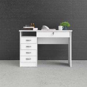 Fint vitt litet skrivbord från Tvilum. Detta är Function Plus. Skrivbordet har möjlighet till mycket förvaring.