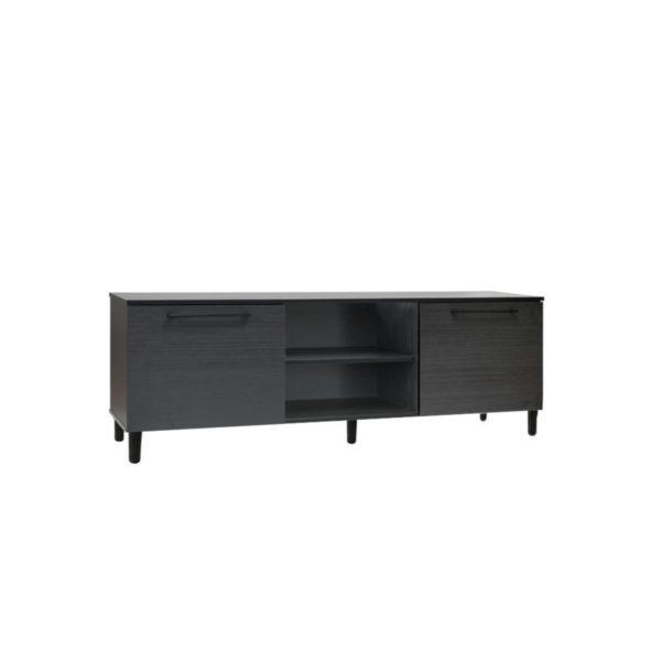 Siro tv-bänk från Hiipakka. Denna tv-bänk finns i vitt, svart och vintage ek. Tv-bänken har två dörrar.